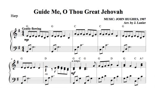 guide me o thou great jehovah sheet music