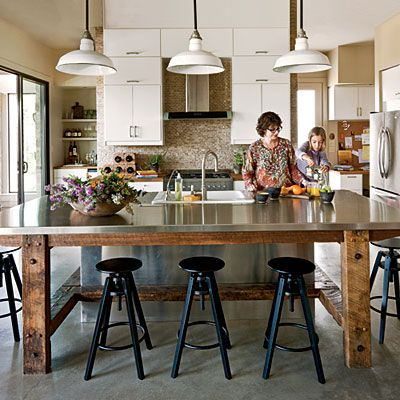 #DreamKitchens: Urban Country Kitchen -   The natural, laid-back style of the Texas Hill Country simmers nicely in this indoor/outdoor kitchen where every day feels a little like a vacation