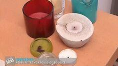 Que faire des restes de cire de bougie en verre ? Comment leur redonner une seconde vie ? Besoin de conseils en récupération et recyclage ? Aurélie Aimé vous dévoile aujourd'hui sa technique pour faire des bougies personnalisées avec du reste de cire. Pour ce faire, vous avez besoin de deux casseroles qui serviront à un bain-marie. Prévoyez également des mèches ainsi que des emporte-pièces et un papier sulfurisé. Nombreux sont les modèles de bougies que vous pouvez réaliser avec des restes…