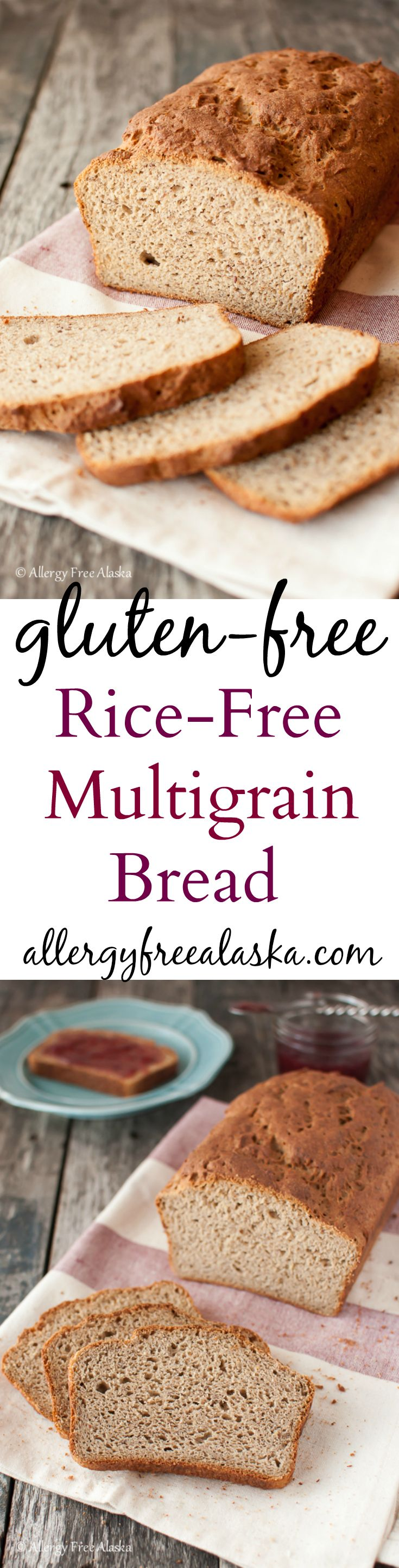 Gluten Free Rice Free Multigrain Bread Recipe from Allergy Free Alaska