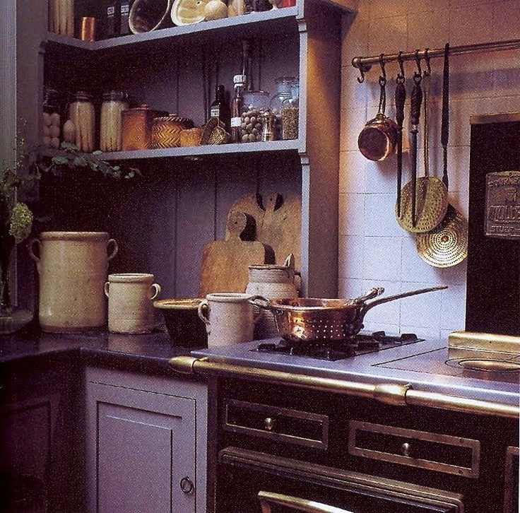 Charming Country Kitchen Decorations With Italian Style: Kitchen-rustic-old-world-design-decor
