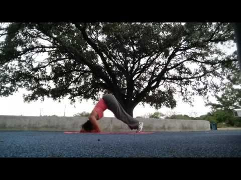 practicing headstand this requires me to slow down so