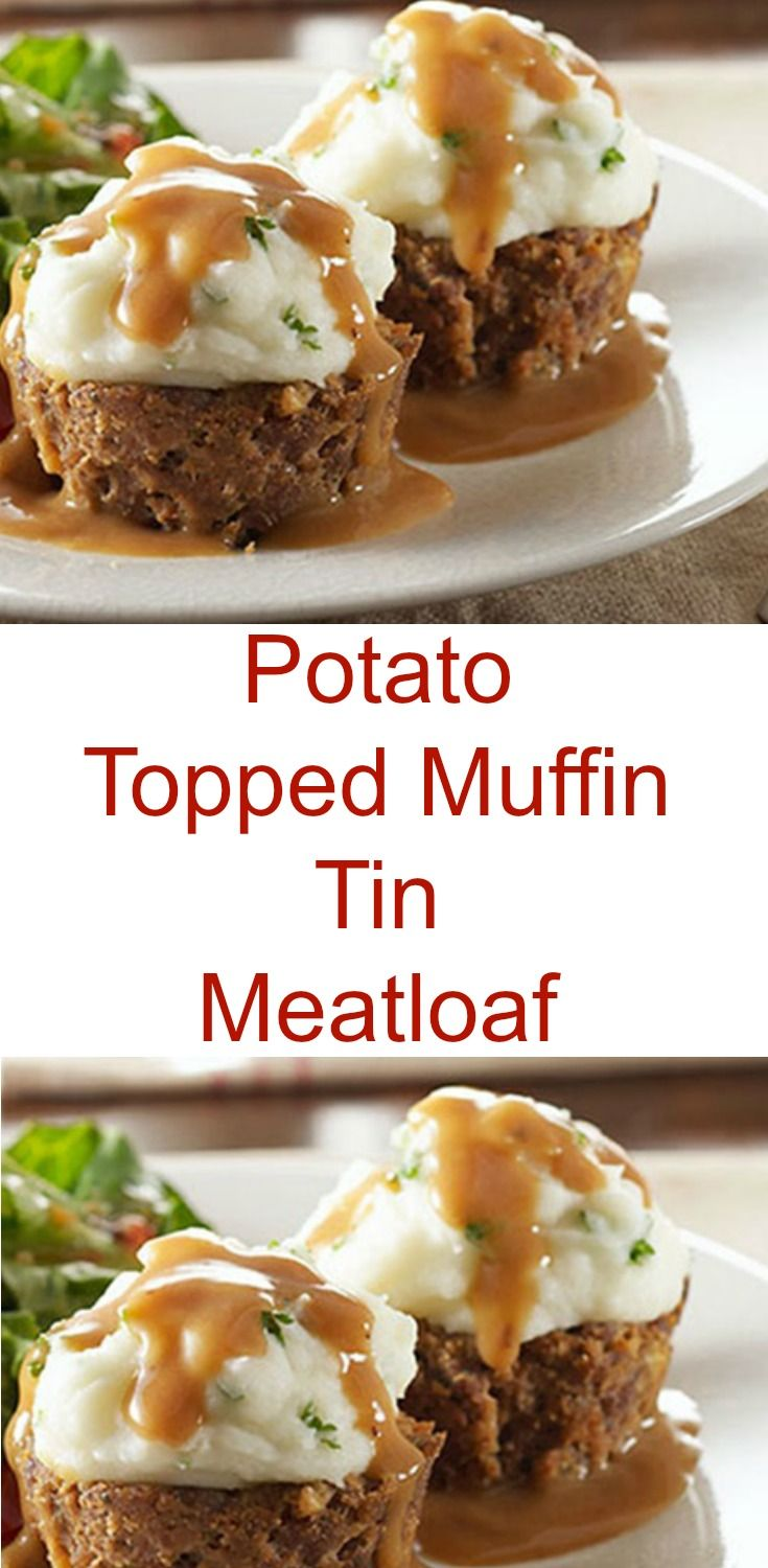 Try a savory dish that looks like a muffin with our Potato-Topped Muffin Tin Meatloaf. This muffin tin meatloaf may earn you the title of rock-star mom.
