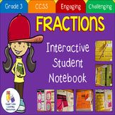Fractions Interactive Notebook Grade 3 Common Core Aligned