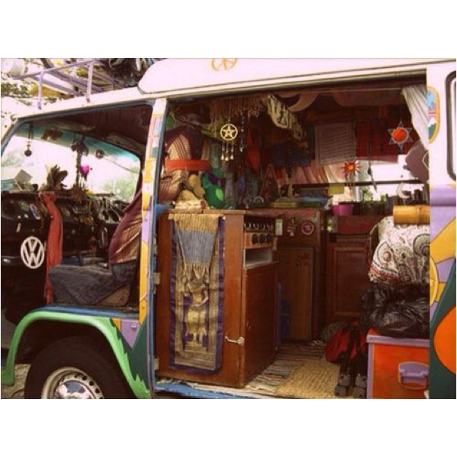 Hippie Bus For Roadtrips D Find This Pin And More On Conversion Van Ideas