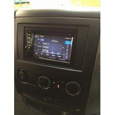 Mercedes-Benz Commercial Vehicles kenwood double din radio and roof mounted