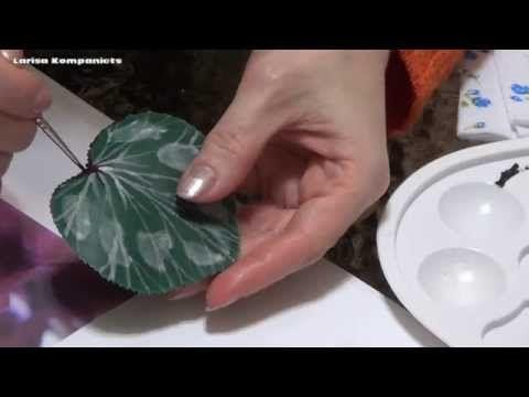 Цветы из холодного фарфора. Цикламен из холодного фарфора. Часть 2