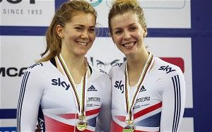 Jess varnish and Becky James picked up bronze at UCI track championships 2014 in Cali, Columbia.