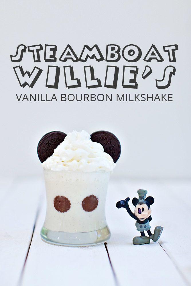 Steamboat Willie's Vanilla Bourbon Milkshake {Disney Inspired Cocktail}