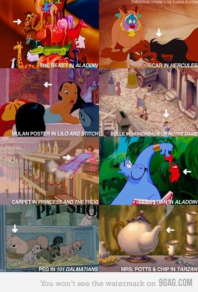 Wooah! Now I have to watch all of these movies and look for them!: Disney Secret, Mind Blown, Mindblown, Funny, Easter Eggs, I Love Disney, Disney Character, Disney Fun, Disney Movie