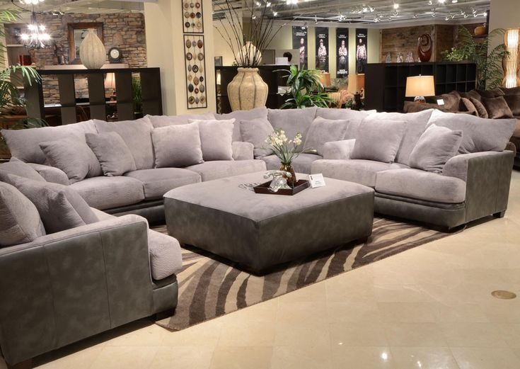 Jackson Furniture   Barkley 3 Piece Sectional Set In Grey/Magnetite    4442 03. Large Sectional SofaLiving Room ... Part 84