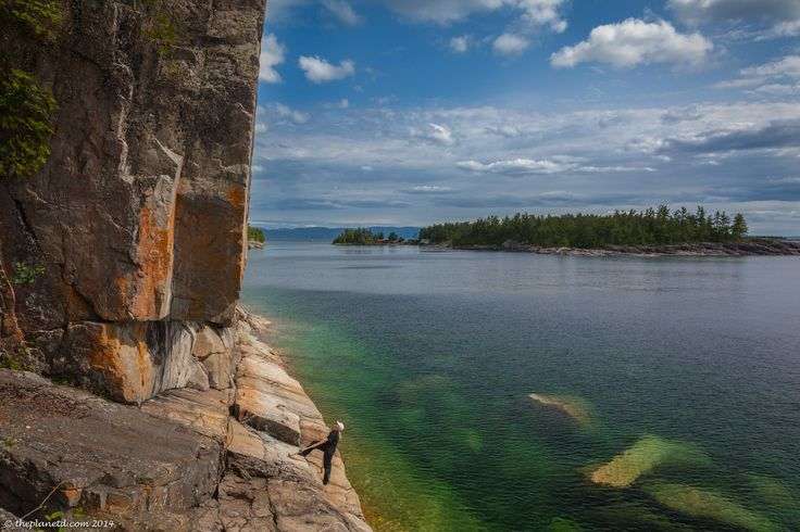 Taking in the Petrographs of Lake Superior Provincial Park