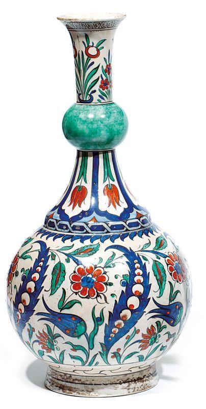 A Samson fabricated ceramic vase, circa 1870.