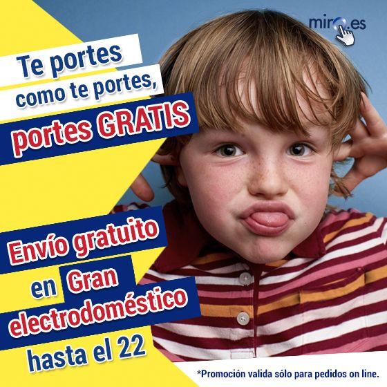 Te portes como te portes...¡¡PORTES GRATIS hasta el 22 de Junio!! www.miro.es #MiroOnline