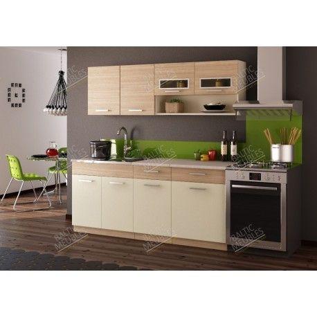 meuble cuisine pas cher discount kit moreno 1m80 5 meubles 2 plan de travail cuisine. Black Bedroom Furniture Sets. Home Design Ideas