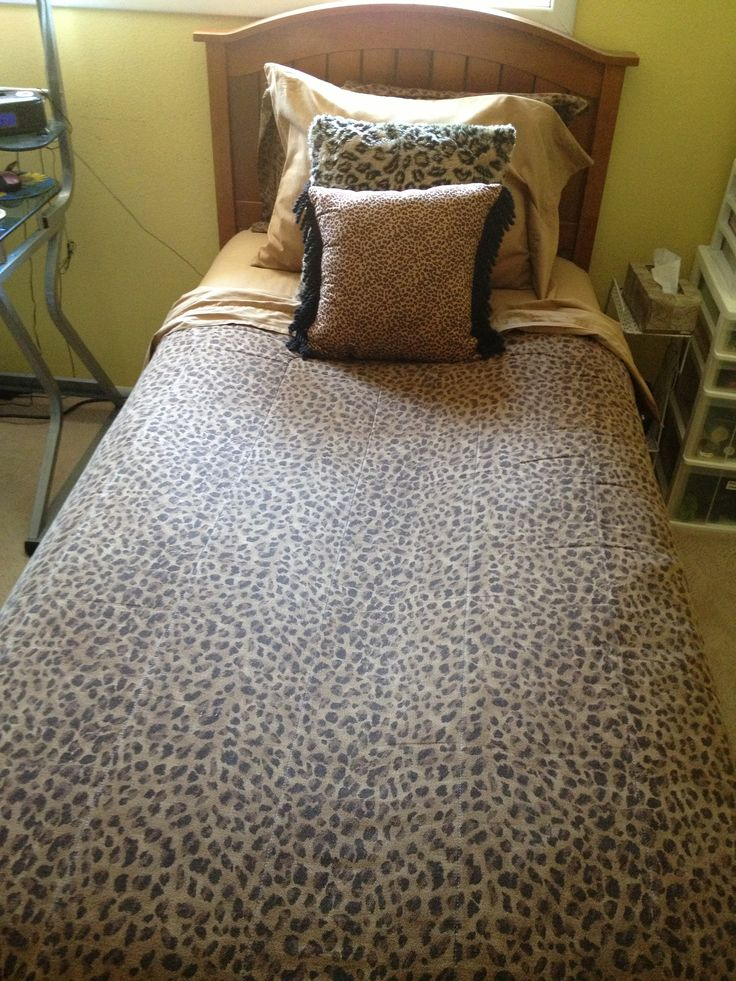 My cheetah print bedspread cheetah print dream bed bath ideas pinterest cheetah print - Cheetah bedspreads ...