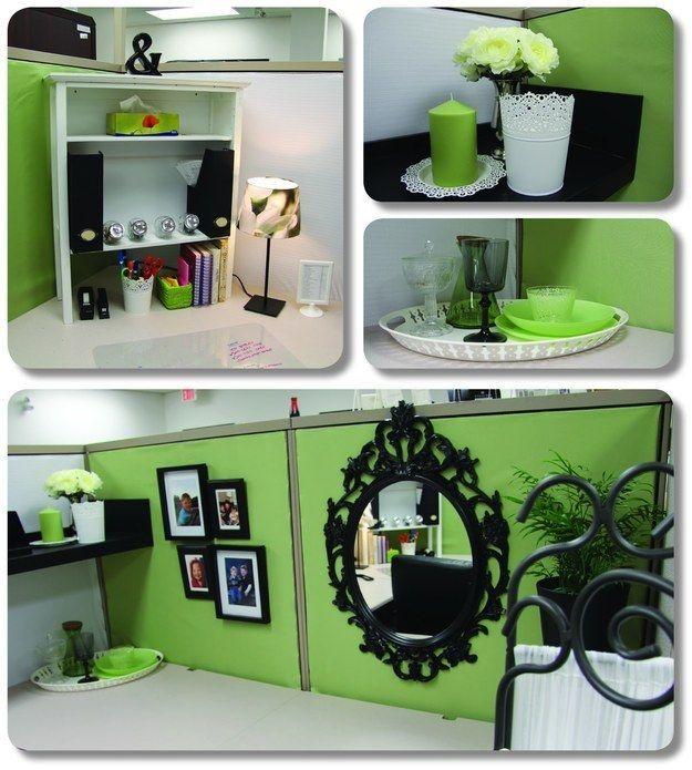 agrégale a mirror, to make your tiny prison with desktop feel more spacious ...   54 formas para hacer que tu cubículo sea menos desagradable