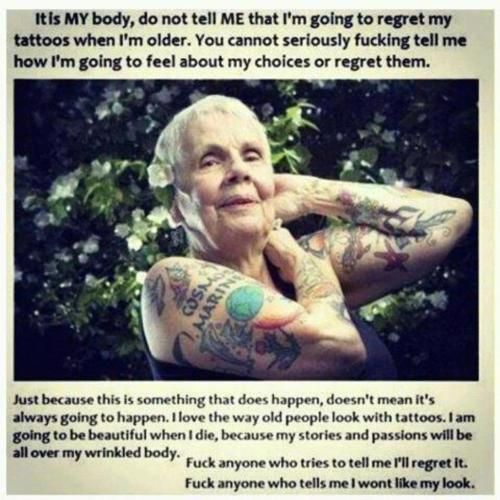 old people with tattoos   Tumblr