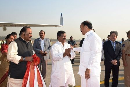 Photos of Hon'ble Vice President of India Visit – Departure at Begumpet Airport