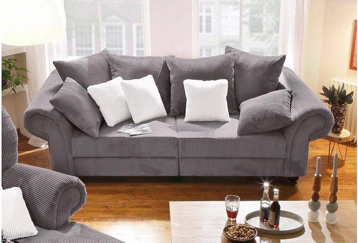 Home Affaire Big Sofa King Henry In Legerer Polsterung Und Vielen Losen Kissen Grosse Sofas Wohnen Sofa