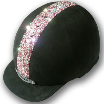 Ventair Equestrian Safety Helmet  The classic Ventair riding hat has been transformed with pink Swarovski Crystals, which sparkle and catch the light beautifully