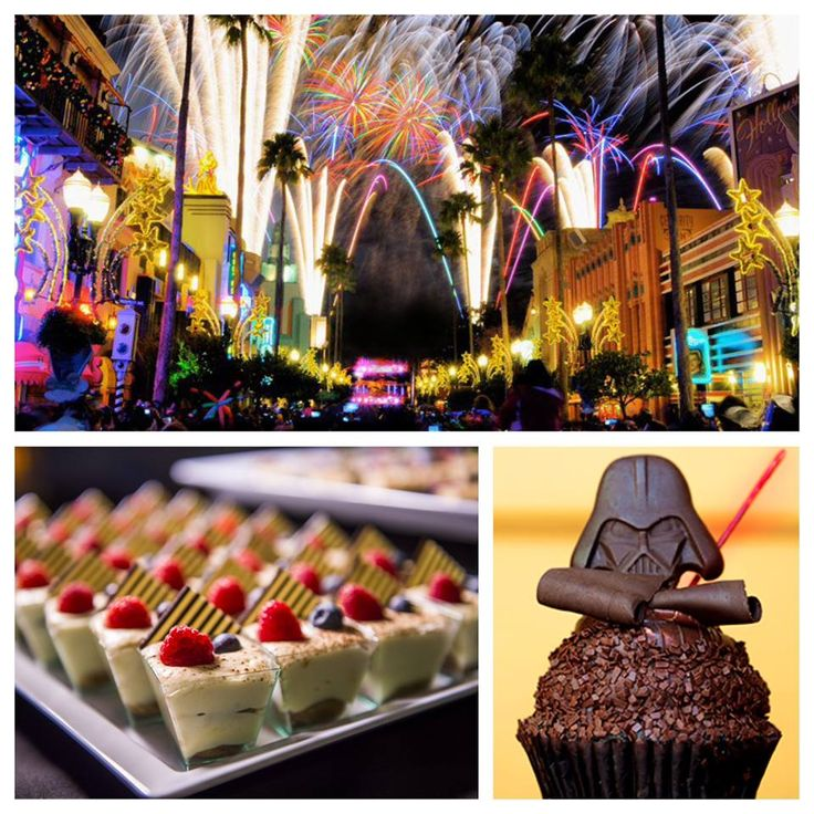 The nightly Star Wars-themed fireworks show at Disney's Hollywood Studios begins on Dec. 18! And from Jan. 5 - March 19, 2016, you can add the Symphony in the Stars: A Galactic Spectacular Dessert Party, where you'll enjoy out-of-this-world desserts and specialty drinks as you take in an up-close view of the show.