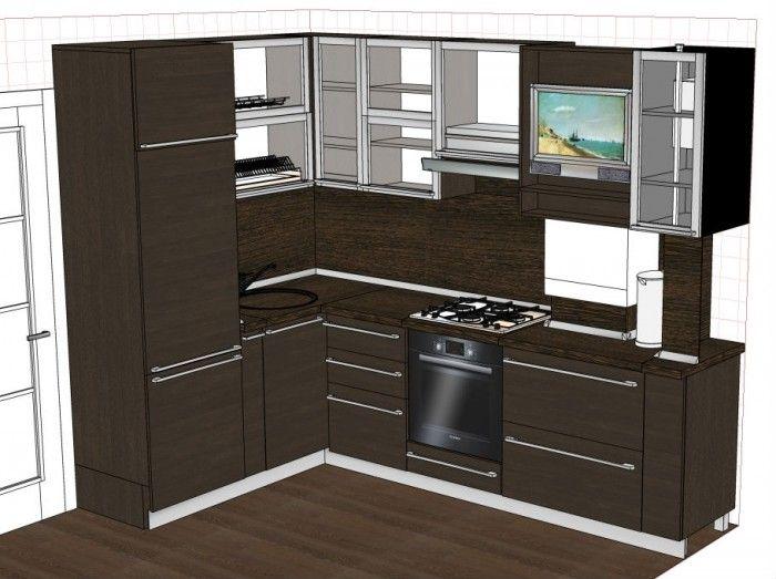 расположение мойки в угловой кухне - Поиск в Google