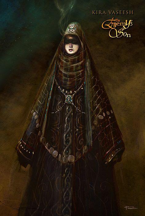 """""""KIRA VASEESH"""" – Character design by Lars Samsoe for Erth Chronicles: 'The Enemy's Son' by James Johnson."""