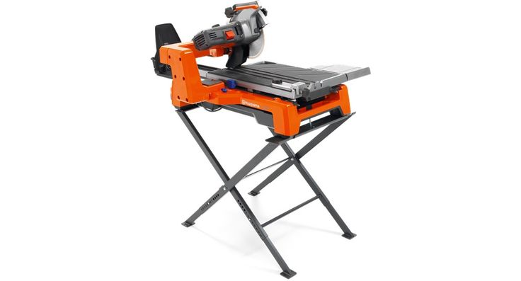 Husqvarna TS 60 Tile Saw with a refined cart and rail system for perfectly straight cuts. The TS 60 is equipped with a patented water and slurry system for little to no mess. This includes an efficient recycling system that cleans water for reuse.
