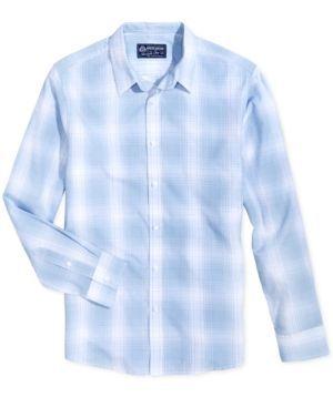 American Rag Men's Plaid Shirt, Only at Macy's  - White 3XL
