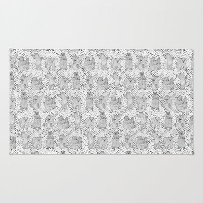 Lazy Bear Area & Throw Rug - Perfect for the kids room #kids #kidsroom #carpet #rugs #rug #lilesadi