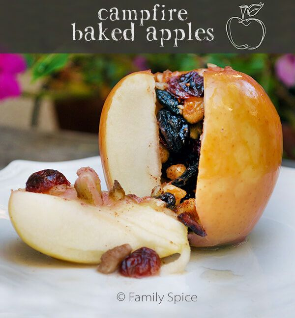 Campfire Baked Apples Stuffed with Nuts and Dried Fruit