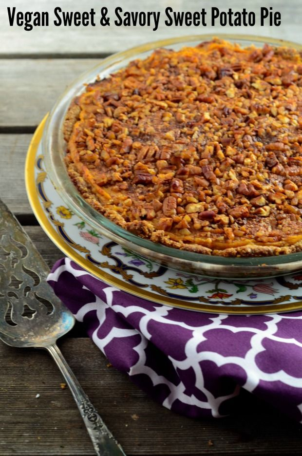 Sweet and Savory sweet potato pie #Vegan #gluten free The filling is ...