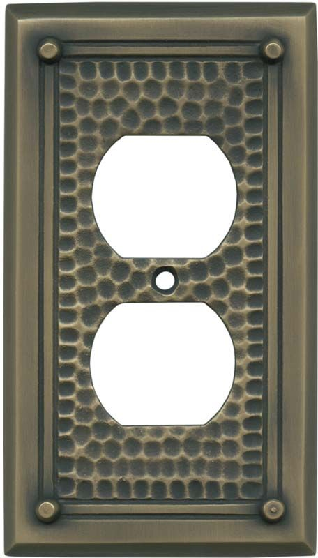 12 best arts crafts images on pinterest light switches for Arts and crafts outlet covers