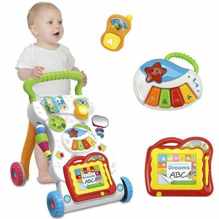 New Baby Walker Infant Toddler Walk Helper Activity Toy Music Lights First Steps #COZIME