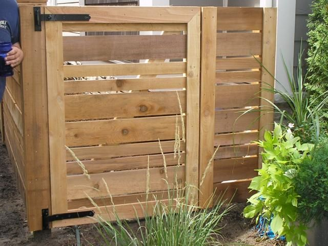 Horizontal Wooden Fences Foot Tall Horizontal Spaced