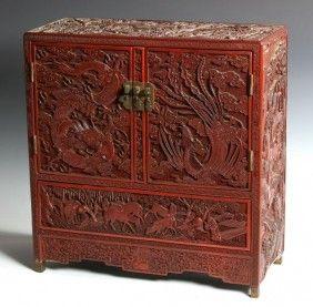 Chinese Cinnabar Cabinet