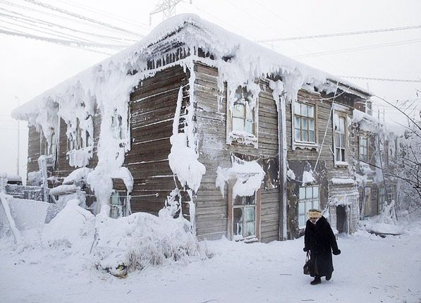 Yakutsk, Russia is located a stone's throw from the Arctic Circle.