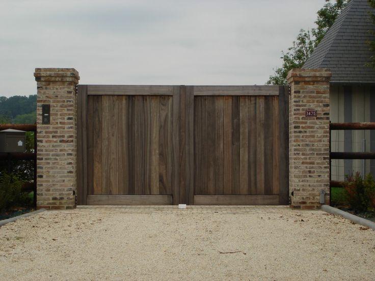Installation de portail bois de qualité