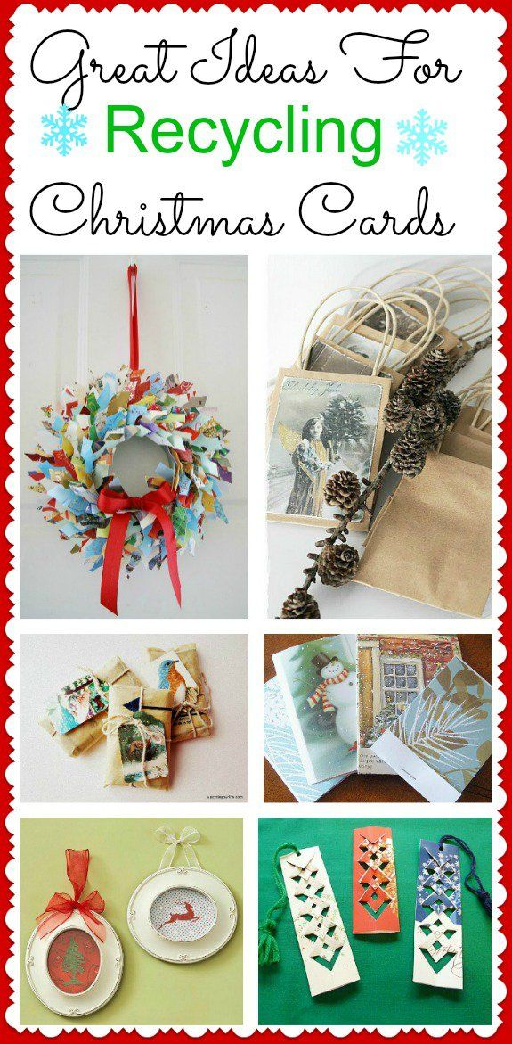 There are lots of ways to repurpose or upcycle old cards! Give your old Christmas cards new life with these great ideas! Make tags for presents like these from Upcycle Your Life You could make ...