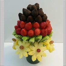 Frugtbuket med choko