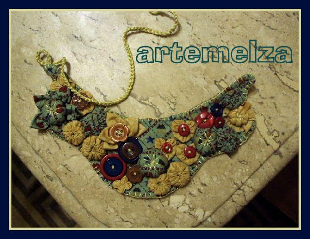 ARTEMELZA - Arte e Artesanato: Colar de fuxico.  -- yoyo necklace