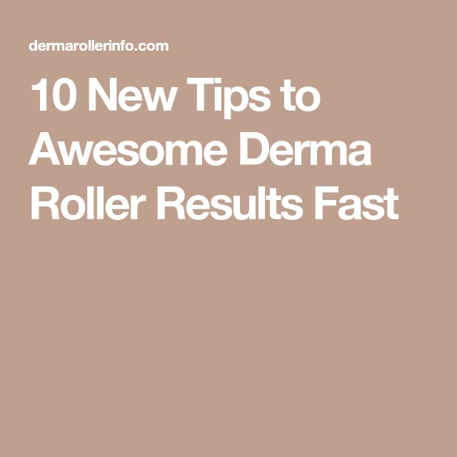 10 New Tips to Awesome Derma Roller Results Fast
