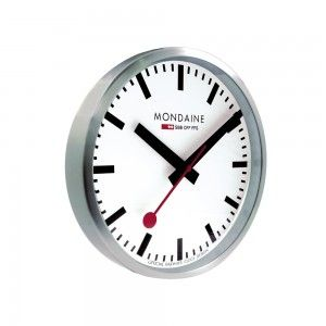 The Mondaine Swiss Railway Wall Clock has been an icon in Switzerland for more than one hundred years. Known for its punctuality and precision, the Swiss Federal Railways have historically featured a train station manager who uses a special red paddle, announcing to passengers and train conductors when trains are about to depart. This red paddle is captured in the Mondaine Official Swiss Railways Clock, taking the place of a conventional second hand. This wall clock captures the look and…
