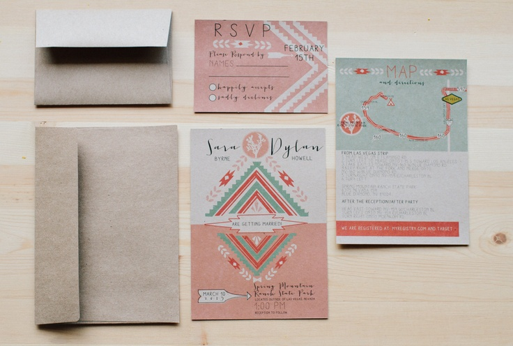 17 best images about wedding stationary invites on for Joshua tree wedding invitations