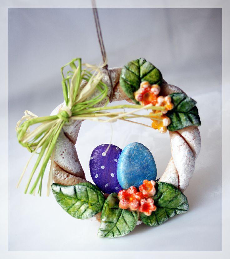 Salt Dough Easter Wreath