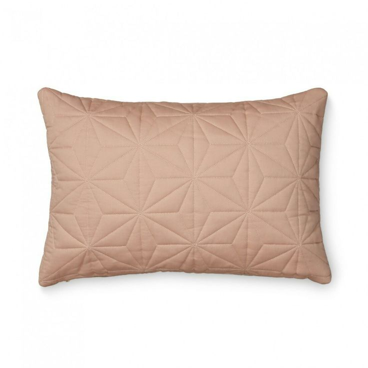 CAM CAM CUSHION QUILTED RECTANGULAR BLUSH