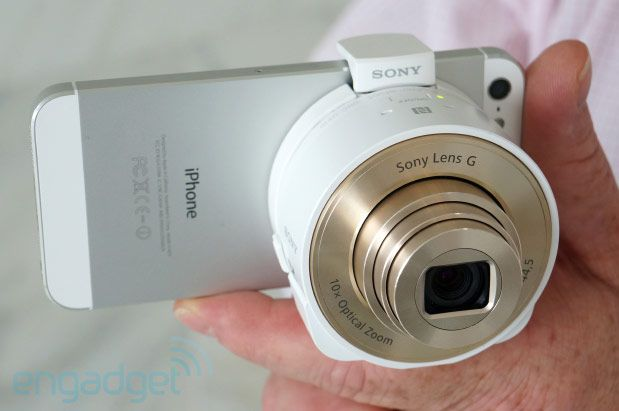 Sony DSC-QX100 and QX10 lens cameras bring high quality optics to any smartphone or tablet camera.