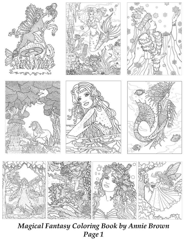 the magical fantasy coloring bookannie brown