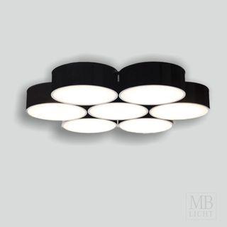 Deckenleuchte ZAMA 143 7x Ledigo LED 15W schwarz